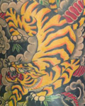 Tiger back piece tattoo